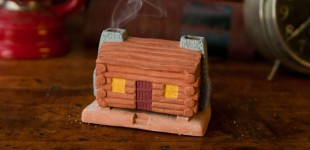 a log cabin for the holiday.
