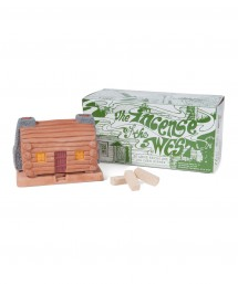 incienso de santa fe log cabin burner w/ piñon.