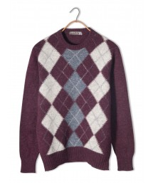 Cooper & Row Wool Argyle Sweater