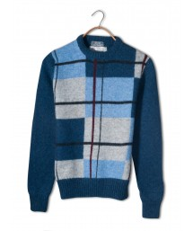 Le' Tigre Exploded Plaid Wool Sweater