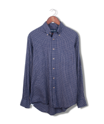 lands' end blue tattersal button down.