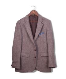coat tails herringbone harris tweed blazer.