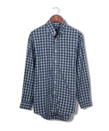 lands' end plaid buttondown.