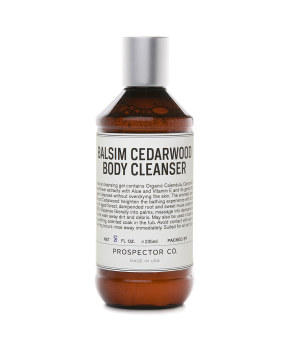 prospector & co. balsam cedarwood body cleanser.
