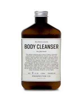 prospector & co. burroughs body cleanser.