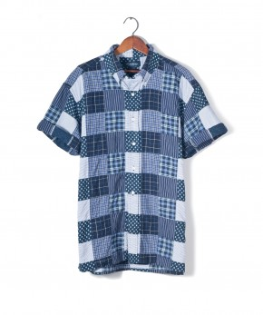 brooks brothers patchwork madras shirt.