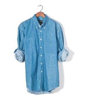 j. crew denim shirt.