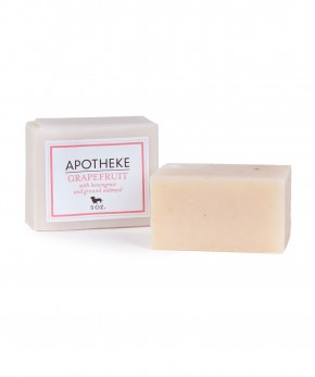 apotheke grapefruit & oatmeal soap.