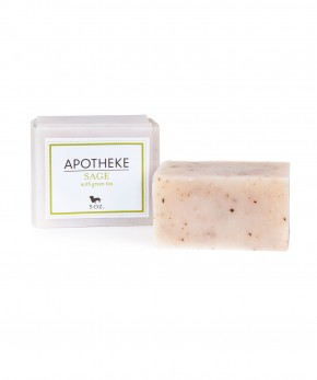 apotheke sage & lemongrass soap.