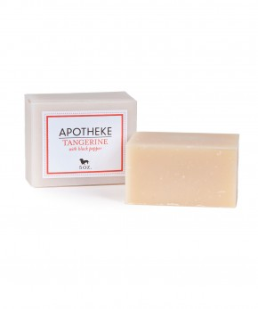 apotheke tangerine & black pepper soap.