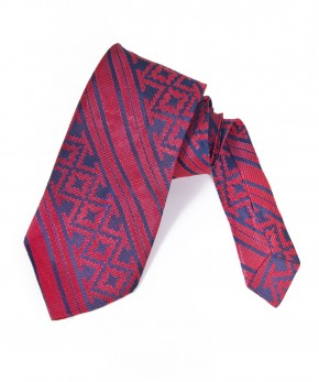 navy & red graphic stripe tie.