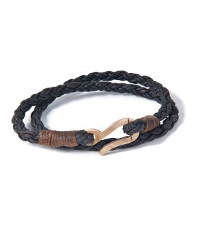 kika ny braided leather wrap bracelet.