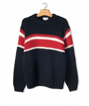 J. Crew Hand-knit Stripe Sweater