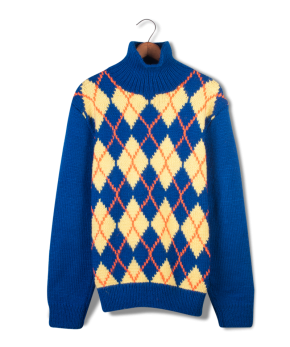 hand knit argyle sweater.