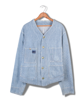 osh kosh striped twill work jacket