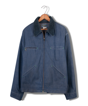 osh kosh denim zip jacket.