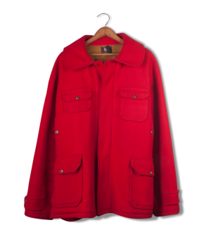 woolrich red wool hunting jacket