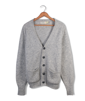 ll bean wool cardigan.