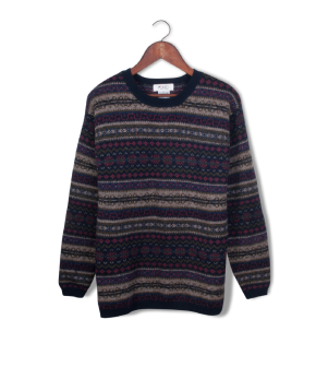 jhc wool fair isle sweater.