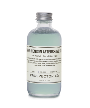 prospector & co. peary & henson aftershave.