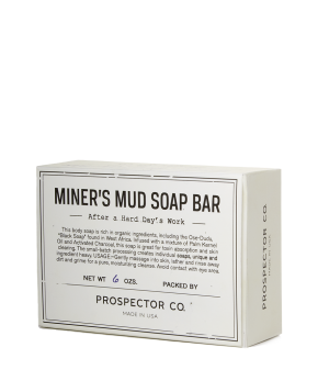 prospector & co. miner's mud soap bar.