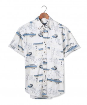 puritan nautical print shirt