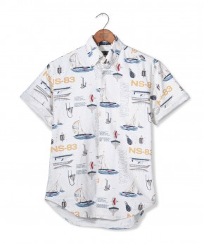 nautica nautical print shirt