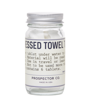 prospector & co. compressed towel tablets